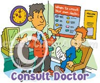consult doctor cartoon