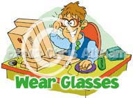 wear glasses cartoon