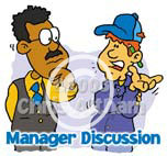 manager discussion cartoon