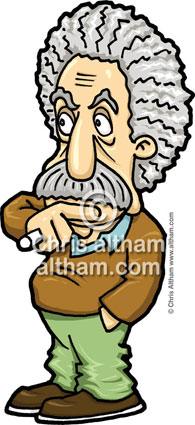 Albert Einstein Caricature Cartoon Picture