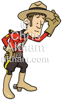 Canadian Mounty Illustration
