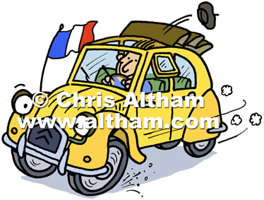 Citroen 2CV Car Cartoon