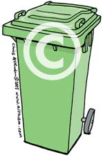 Green Wheelie Bin Cartoon