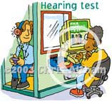hearing test cartoon