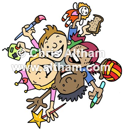 Kids Club Cartoon Logo