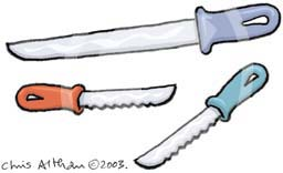 dangerous knives cartoon