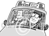 driver instructor cartoon