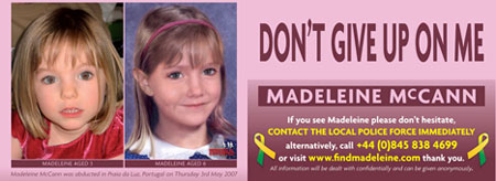 Madeleine McCann Missing Child