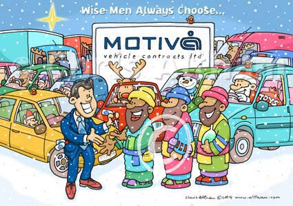 Personalised vehicle contracts company christmas card