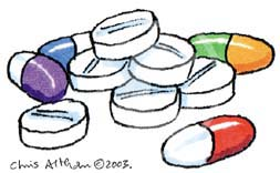 dangerous pills cartoon