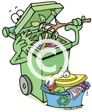 Green recycling cartoon