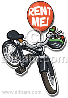 Bike Illustration cartoon