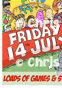 School Summer Fayre Cartoon