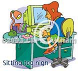 sitting too high cartoon