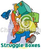 struggle boxes cartoon