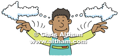 Child Thinking Cartoon