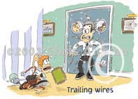trailing wires cartoon